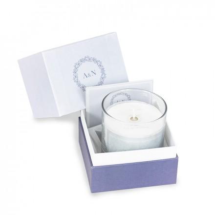 Candle Blue Wreath