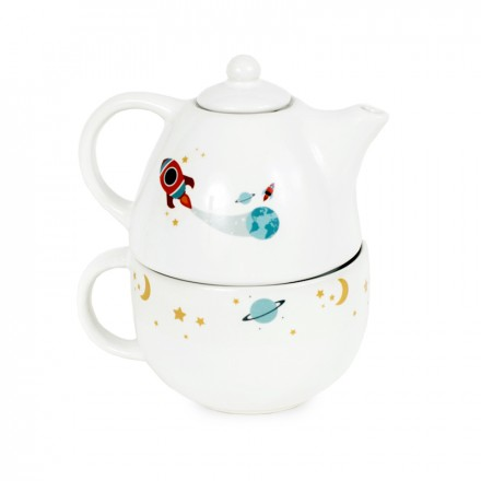 Printed Tea Pot Set