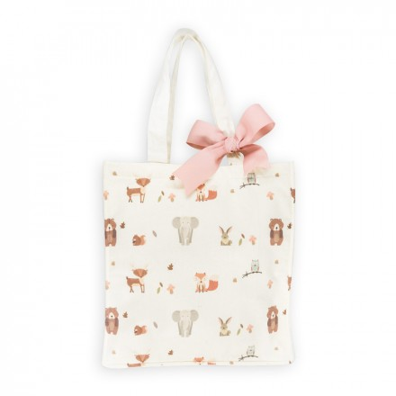 Printed Canvas Bag - Pink Ribbon